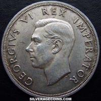1947 George VI South African Silver 5 Shillings