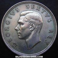 1951 George VI South African Silver 5 Shillings