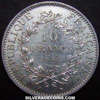 1968 French Silver 10 New Francs (Hercules)