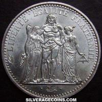 1970 10 Silver French New Francs (Hercules)