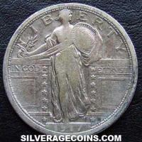 1917 United States Standing Liberty Silver Quarter (type 1 obverse)