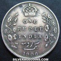 1906(c) Edward VII British India Silver Rupee