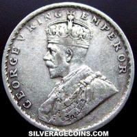 1914(c) George V British India Silver Rupee