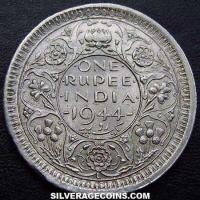 1944L large L George VI British India Silver Rupee