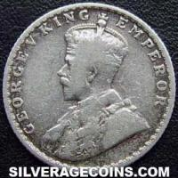 1915 (c) George V British India Silver Quarter Rupee