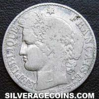 1881 A French Silver 50 Cents (Modern Republic, Liberty Head)