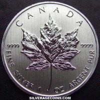 2012 Canadian 5 Dollars 1 Ounce Silver Maple Leaf