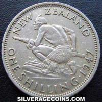 1947 George VI New Zealand Shilling
