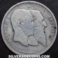 1880 Leopold II Belgian Silver Franc (Independence)
