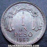 1953 Short top Chile 1 Peso