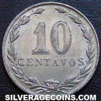 1942 Argentina 10 Cents