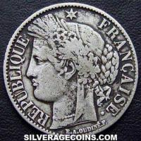 1887 A French Silver Franc (Liberty Head)