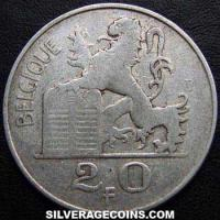 Leopold III Belgian Silver 20 Francs (French, medal alignment) (Obverse)
