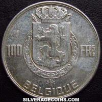Belgian Silver 100 Francs (French, coin alignment) (Obverse)