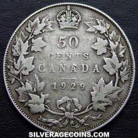 George V Canadian Silver 50 Cents (Reverse)