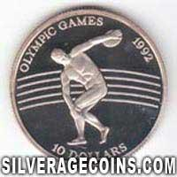 Niue Silver Proof 10 Dollars (Olympic Games) (Reverse)