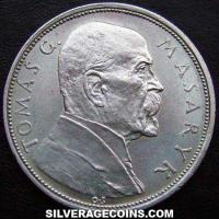 Czechoslovakia Silver 10 Korun (10th Anniversary of Independence) (Obverse)