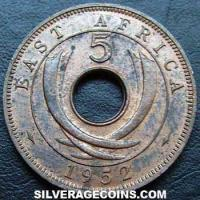 East African Bronze 5 Cents (Reverse)