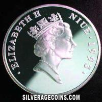 Niue Silver Proof 20 Dollars (40th anniversary) (Obverse)