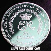 Niue Silver Proof 20 Dollars (40th anniversary) (Reverse)