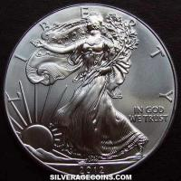 1990 S Proof United States Dollar 1 Ounce Silver Eagle