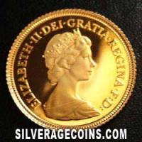 1983 Proof Elizabeth II British Gold Half Sovereign