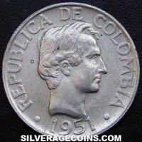 Colombian Silver 20 Centavos (type 2) (Obverse)