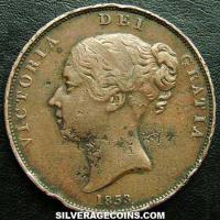 "Queen Victoria British ""Young Head"" Penny (Obverse)"