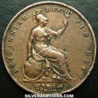 "Queen Victoria British ""Young Head"" Penny (Reverse)"