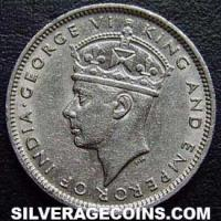 George VI Hong Kong 10 Cents (Obverse)