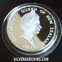 New Zealand Elizabeth II  Silver Proof 1 Dollar (Royal Visit) [Boxed] (Obverse)