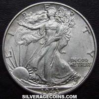 1933 S United States Walking Liberty Silver Half Dollar