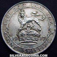 1912-3A George V British Silver Shilling (type 1)