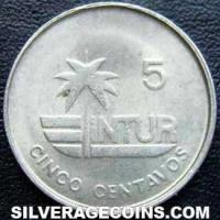 1981 small 5 Cuban 5 Centavos (Visitor's coinage)
