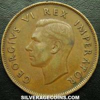 1943 George VI South African Bronze Penny