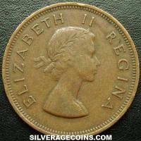 1958 Elizabeth II South African Bronze Penny