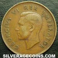 1938 George VI South African Bronze 1/4 Penny (Farthing)