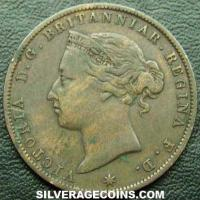 Victoria Jersey Bronze 1/24 Shilling (Obverse)