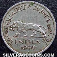 1947 (b) George VI British India Quarter Rupee
