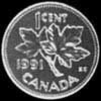Céntimo de Bronce Canadienses de Isabel II de 1995