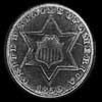 United States Silver 3 Cents (type 2) (Obverse)