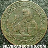 Provisional Government Spanish 2 Cents (Obverse)