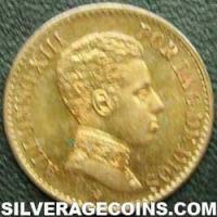 Alfonso XIII Spanish Bronze Cent (Obverse)