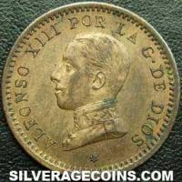 Alfonso XIII Spanish 2 Cents (Obverse)