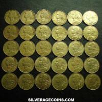Lot of 30 Different Dates French 10 New Cents (Obverse)