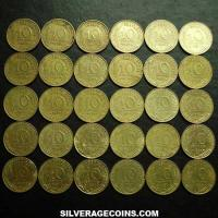 Lot of 30 Different Dates French 10 New Cents (Reverse)