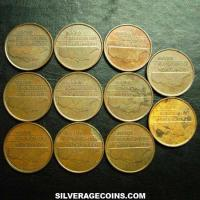 Lot of 11 Different Dates Netherlands Beatrix Bronze 5 Cents (Obverse)