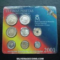 Collection Last Legal Tender Pesetas Uncirculated Set (Obverse)