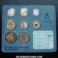 Collection Last Legal Tender Pesetas Uncirculated Set (Reverse)