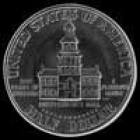 "United States ""Kennedy"" Silver Half Dollar (Independence Hall) (Reverse)"